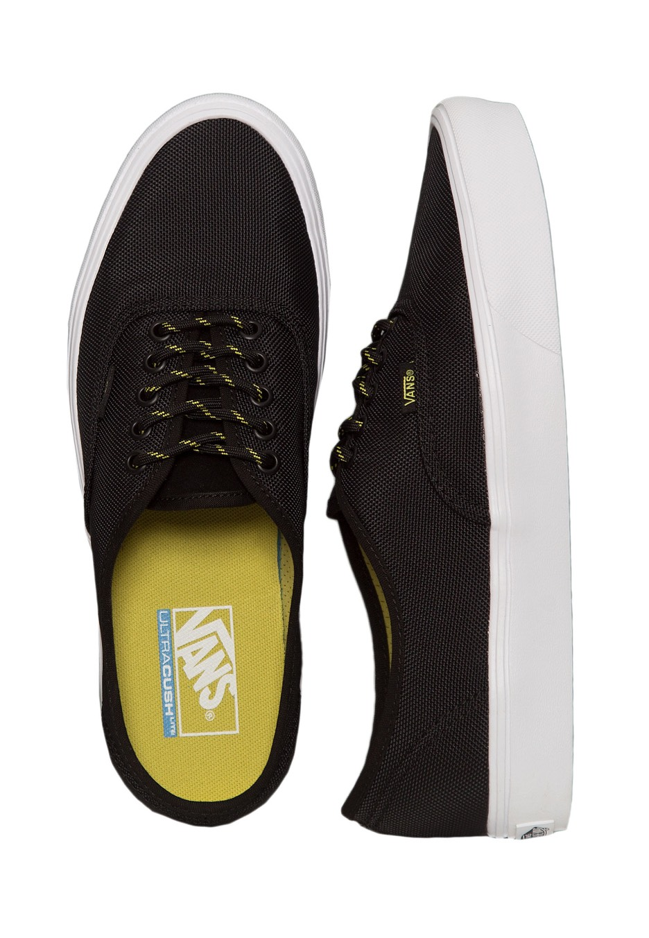 bb59298c83430d Vans - Authentic Lite Ballistic Black Celery - Shoes - Impericon.com UK