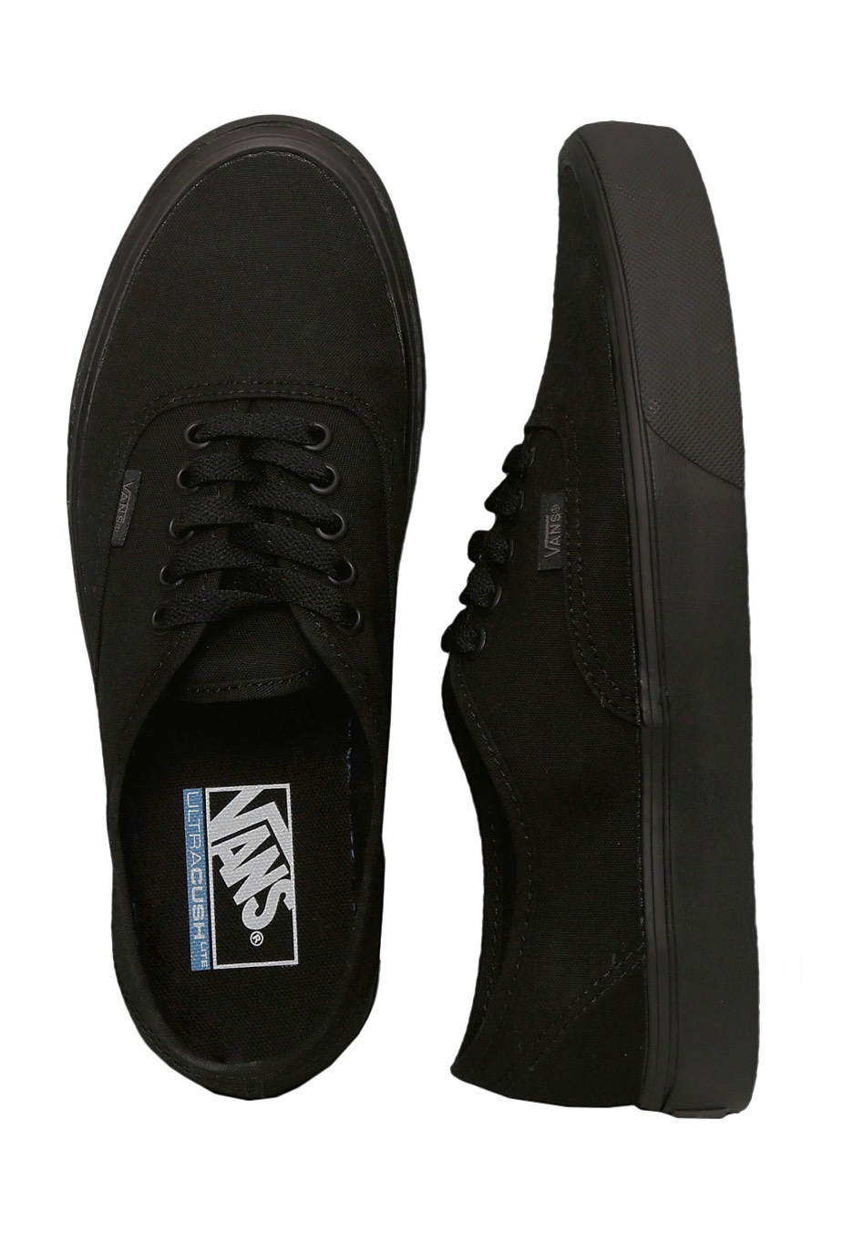 d08d40cd5e Vans - Authentic Lite Canvas Black Black - Shoes - Impericon.com UK