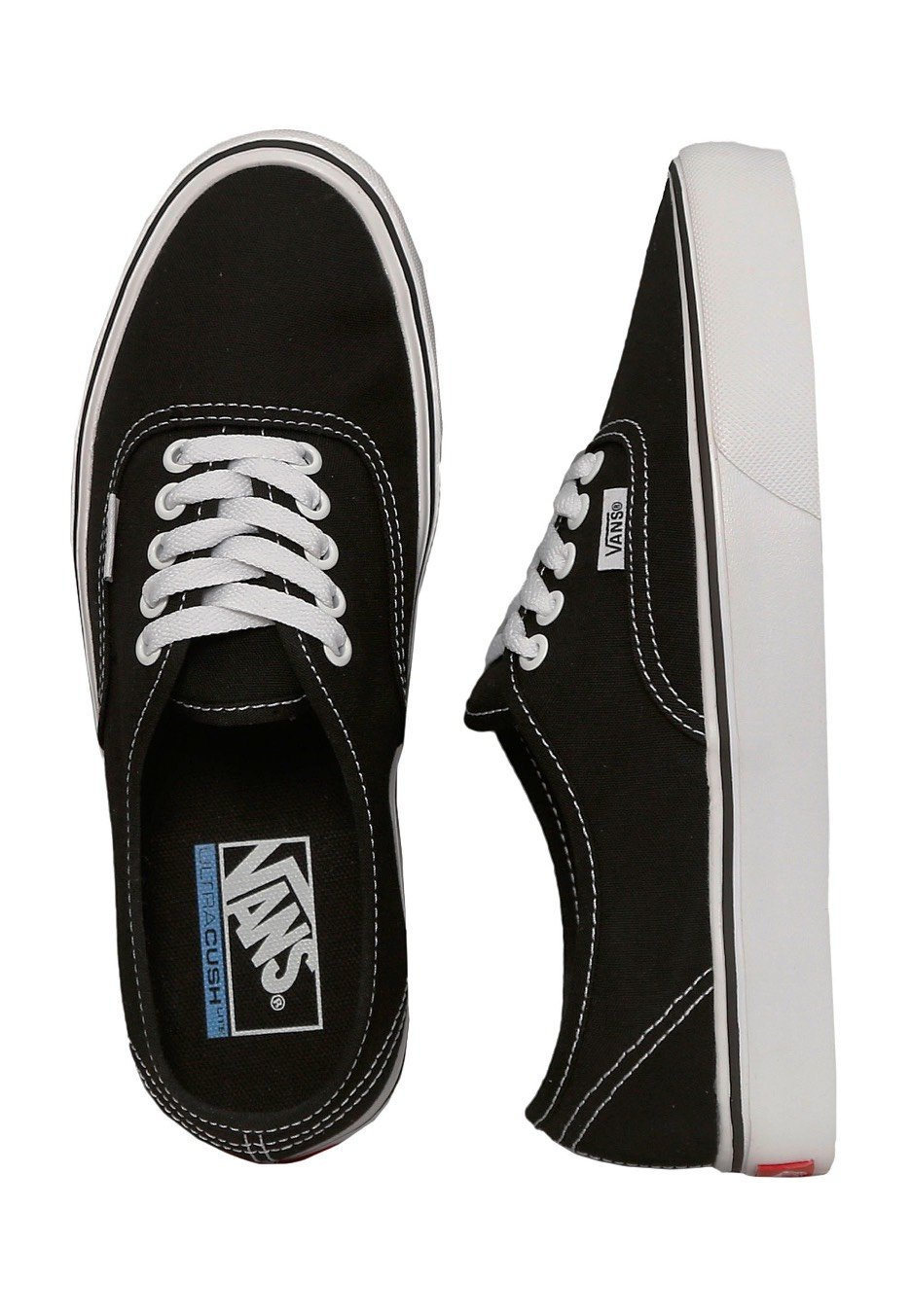 8efb021d79 Vans - Authentic Lite Canvas Black White - Shoes - Impericon.com UK