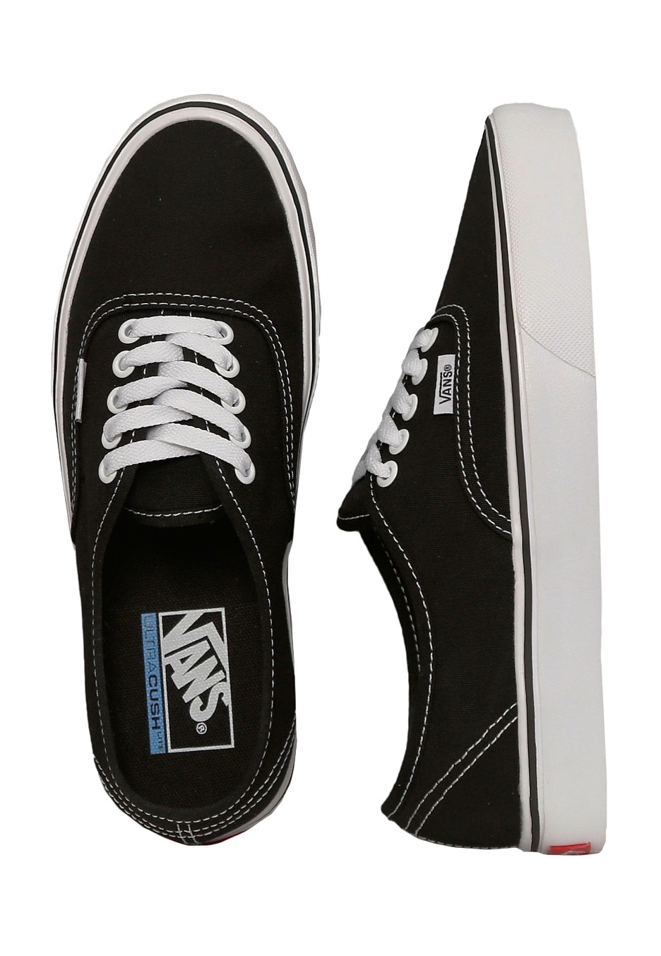 30eb881b822c Vans - Authentic Lite Canvas Black White - Girl Shoes - Impericon.com  Worldwide