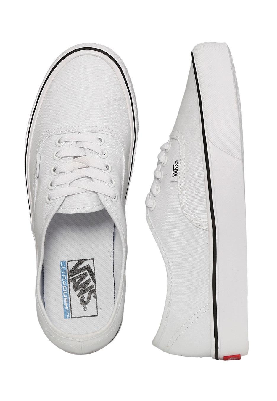 31bbd14e8af1d1 Vans - Authentic Lite Canvas True White - Girl Shoes - Impericon.com  Worldwide