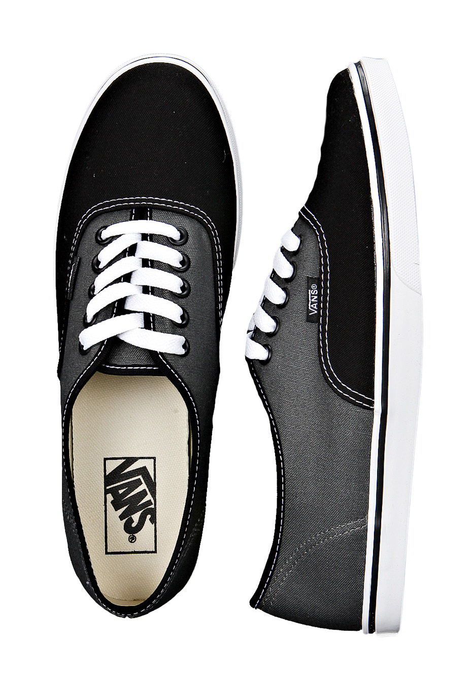 46a574215069ae Vans - Authentic Lo Pro 2 Tone Black Dark Shadow - Girl Shoes - Impericon.com  UK