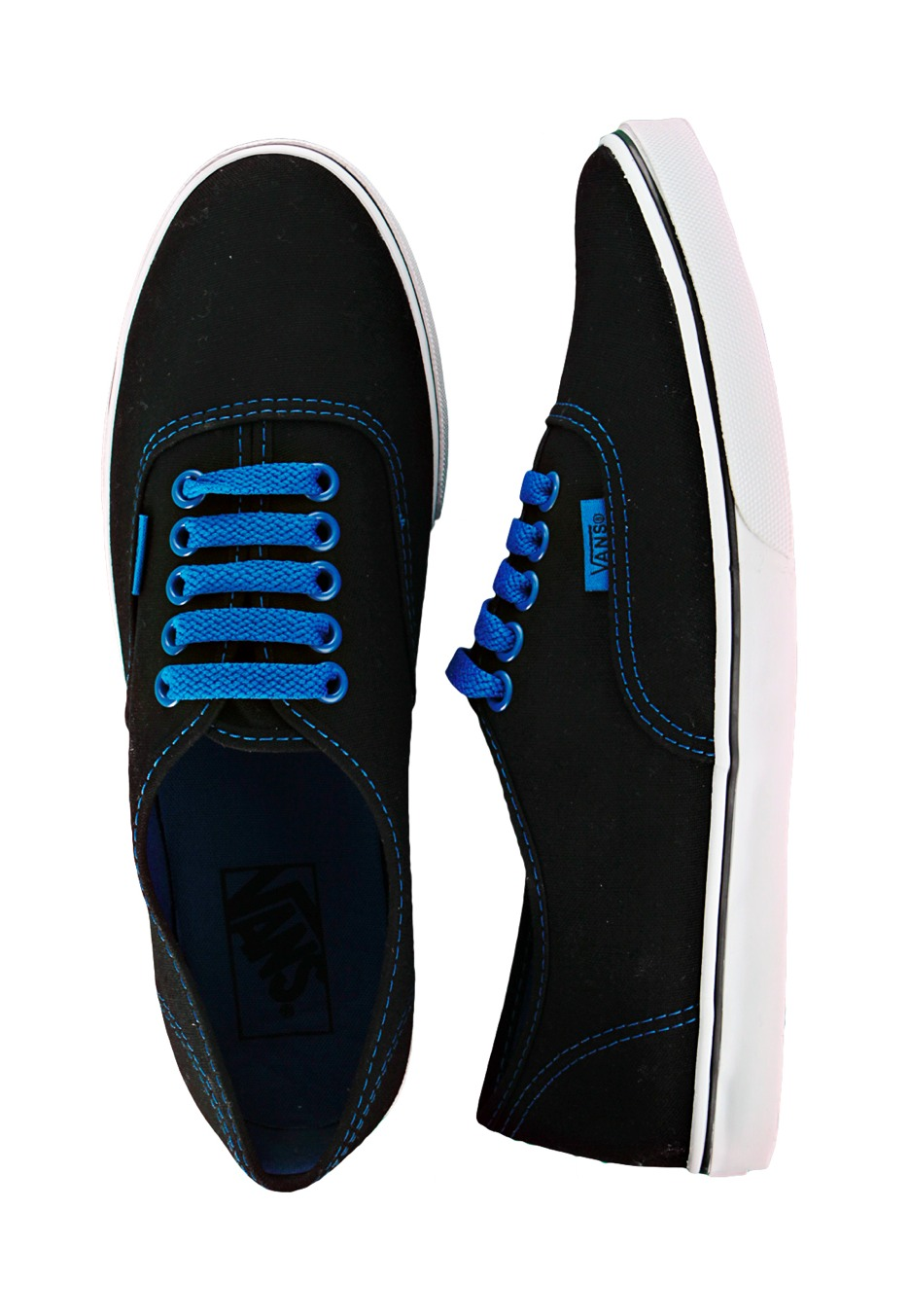 Vans - Authentic Lo Pro Black/Blue - Girl Shoes - Impericon.com ...