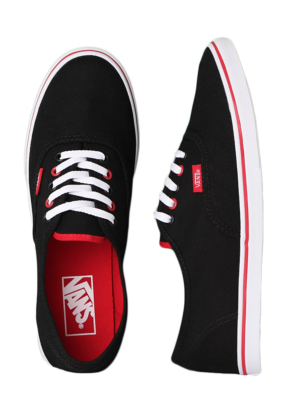 ea887f3f5d2764 Vans - Authentic Lo Pro Black True Red - Girl Shoes - Impericon.com  Worldwide