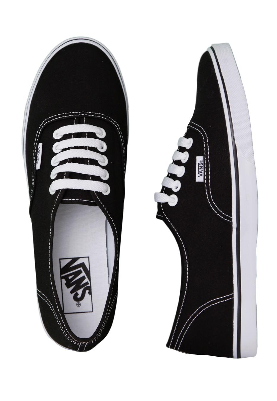 Vans Authentic Lo Pro BlackTrue White Girl Schuhe