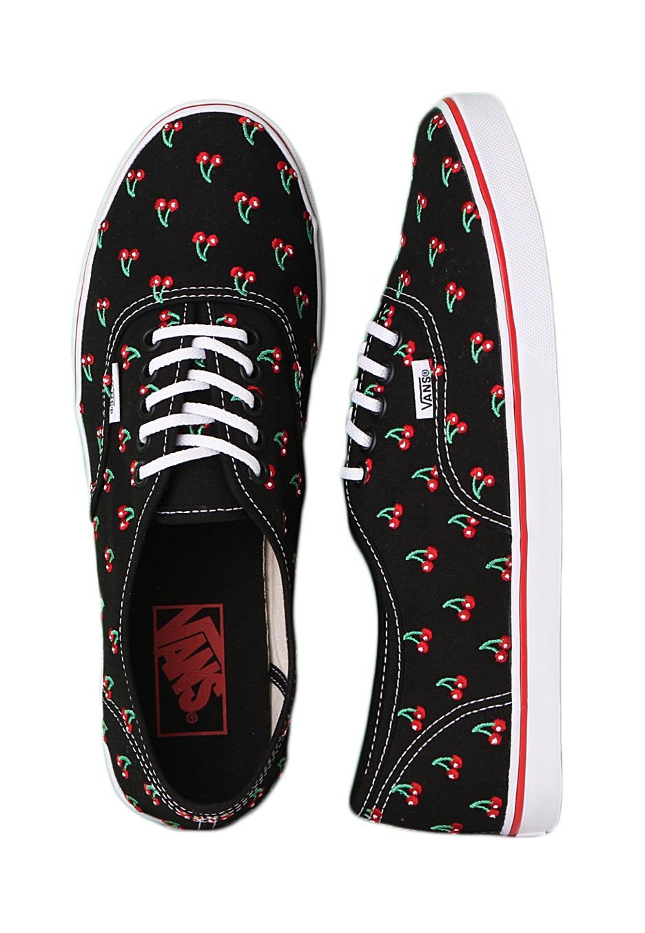 Vans - Authentic Lo Pro Cherry Black - Girl Shoes - Impericon.com UK e3c3dd071
