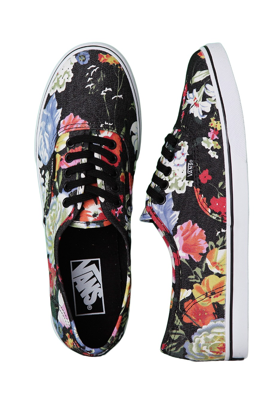 7c2b7787c57 Vans - Authentic Lo Pro Floral Black True White - Girl Shoes -  Impericon.com Worldwide