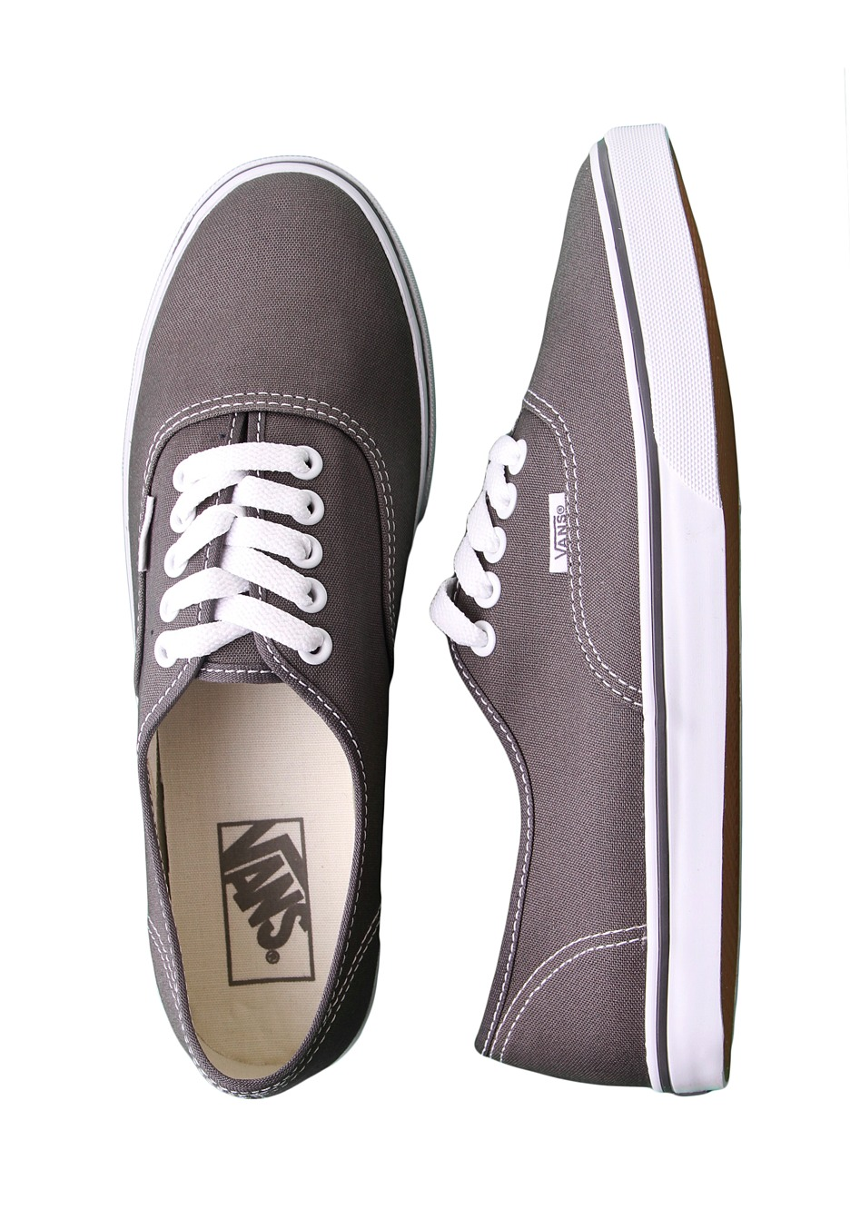 6515ae8537 Vans - Authentic Lo Pro Pewter True White - Girl Shoes - Impericon.com UK