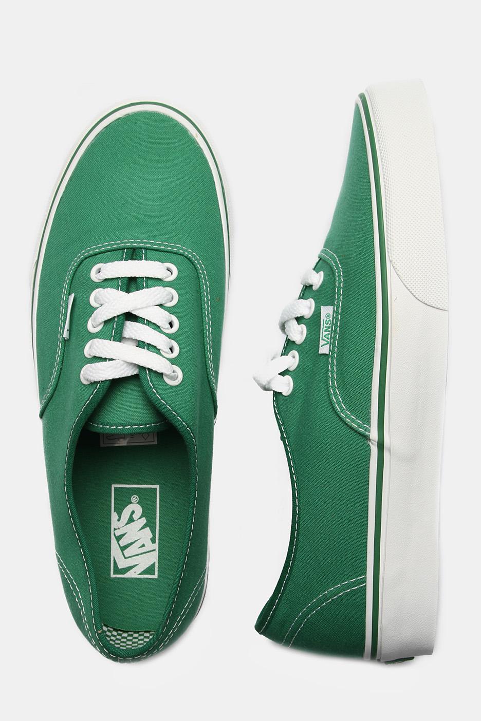vans shoes green