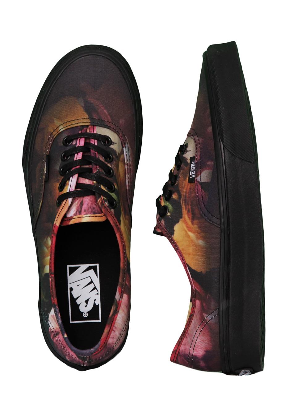 7f59ab48f4a0da Vans - Authentic Ombre Floral Black Black - Girl Shoes - Impericon.com UK