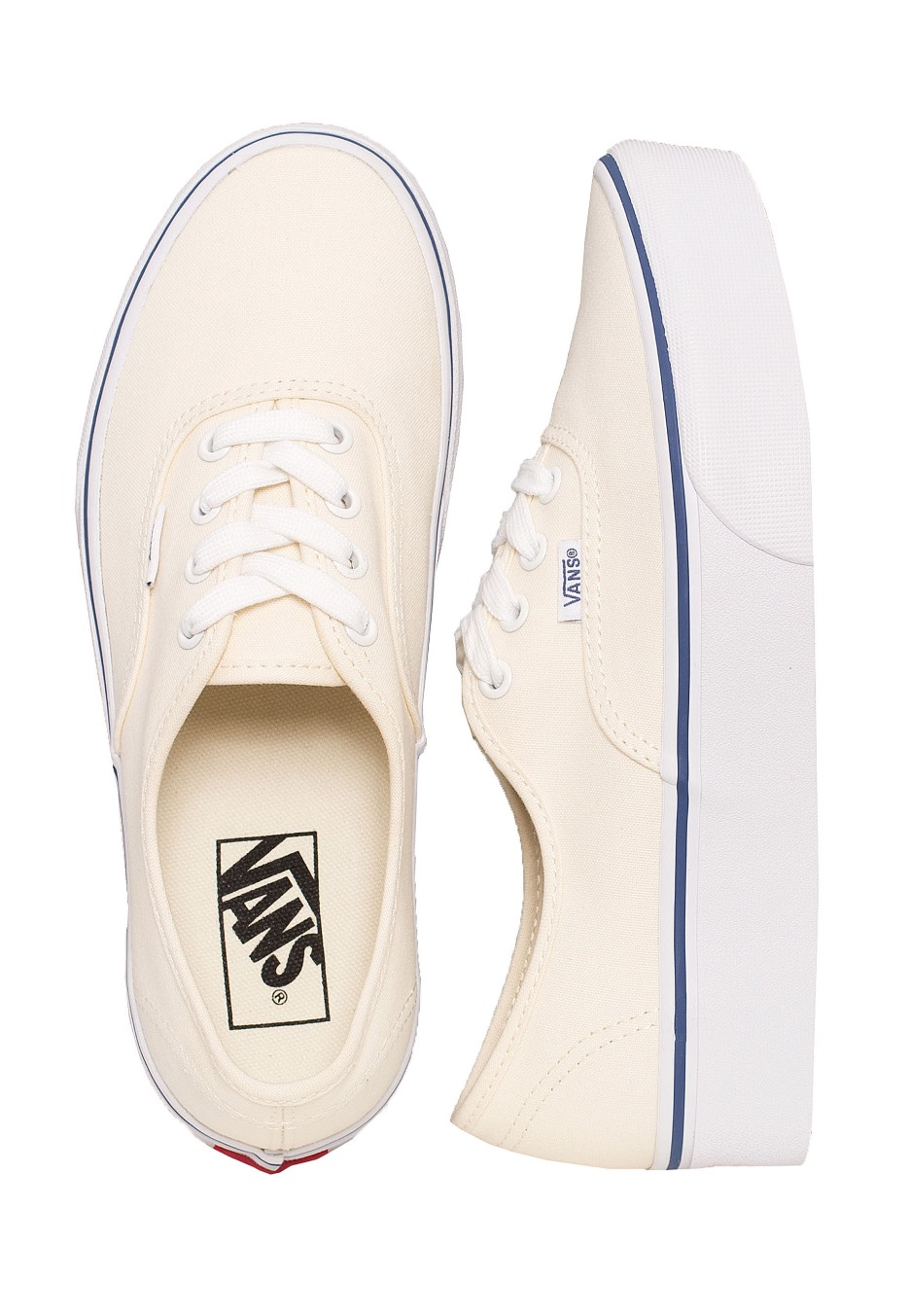b3ada96a8c Vans - Authentic Platform 2.0 Canvas Classic White True White - Girl Shoes  - Impericon.com Worldwide