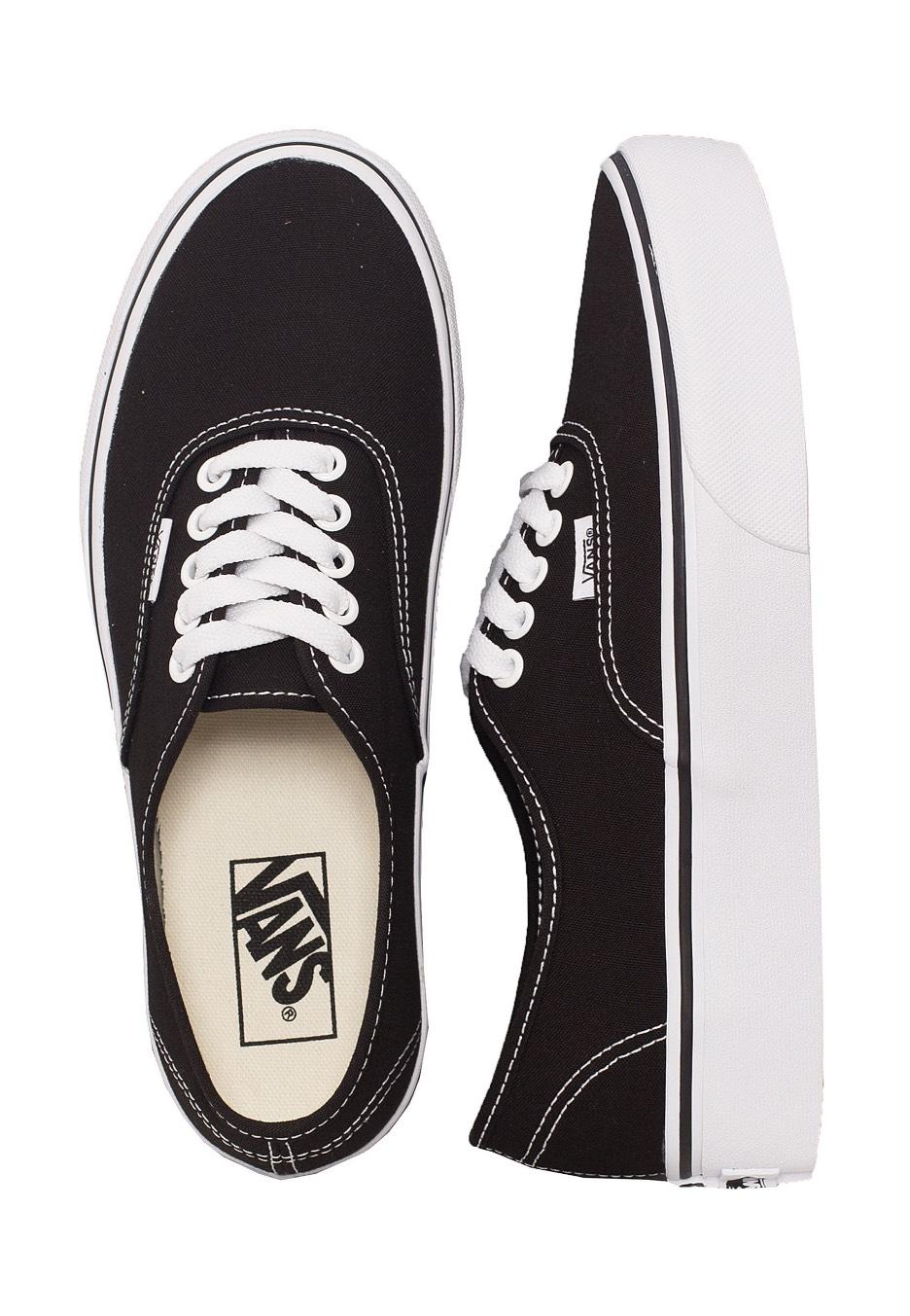 7576e677e45a64 Vans - Authentic Platform 2.0 Black - Girl Shoes - Impericon.com Worldwide