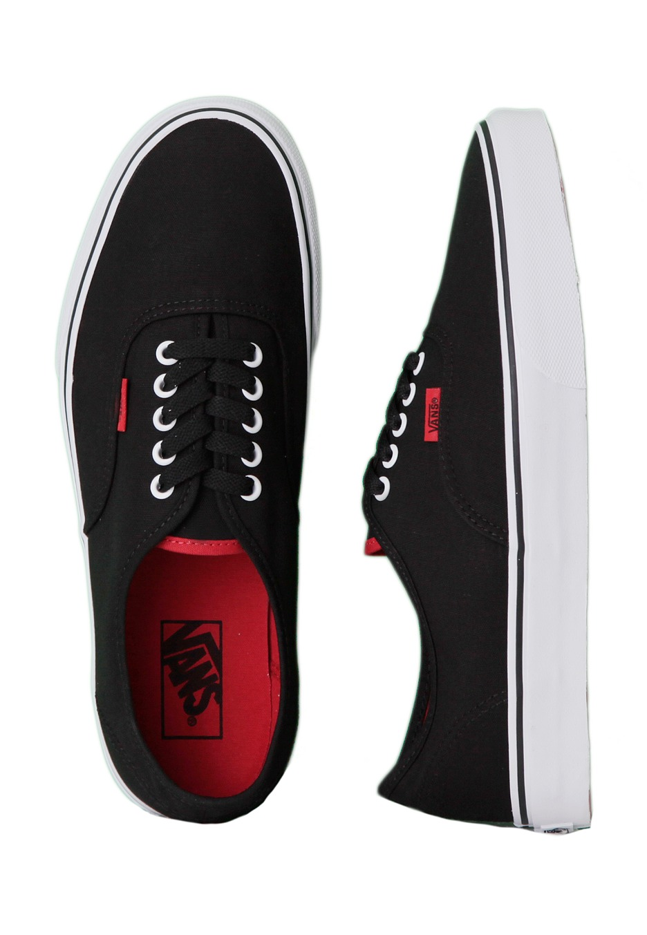 db10d4d3b7b8 Vans - Authentic Pop Black Chinese Red - Shoes - Impericon.com Worldwide