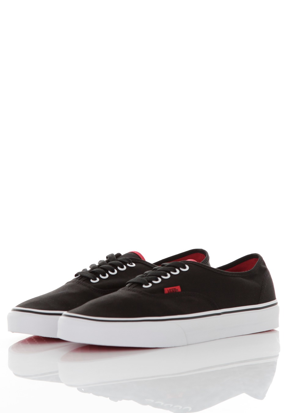 Vans - Authentic Pop Black Chinese Red - Sapatos - Impericon.com PT 719bd3a69