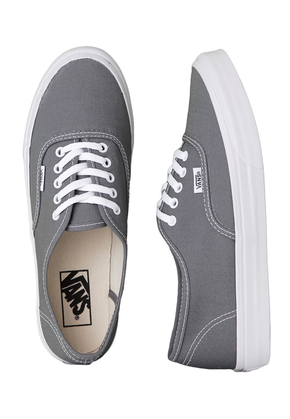 4c4d6f92501 Vans - Authentic Slim Monument True White - Girl Shoes - Impericon.com UK