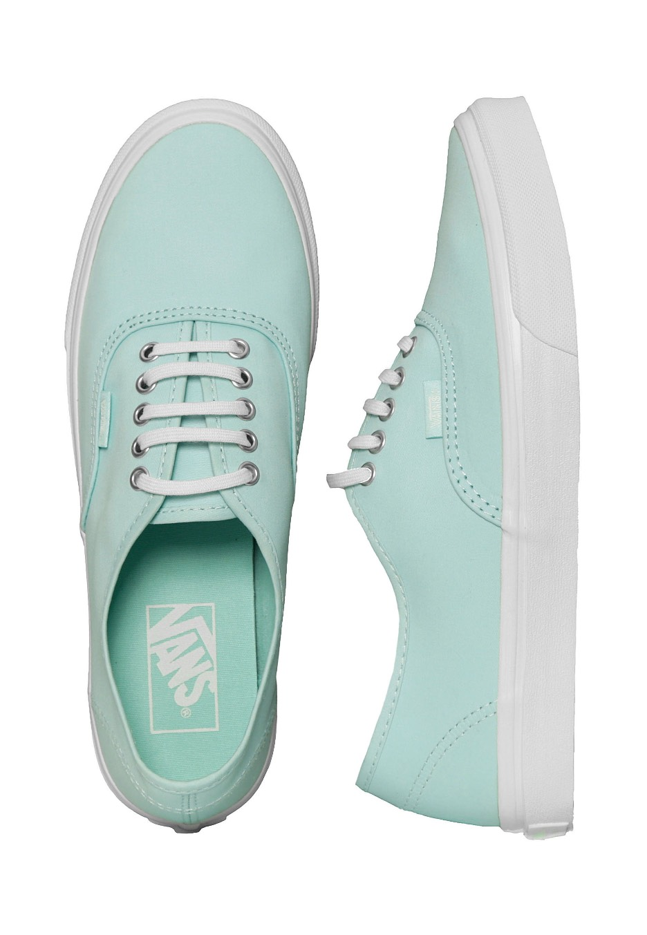 5ee5c46bf7 Vans - Authentic Slim Brushed Twill Blue Light Blanc De Blanc - Girl Shoes  - Impericon.com UK