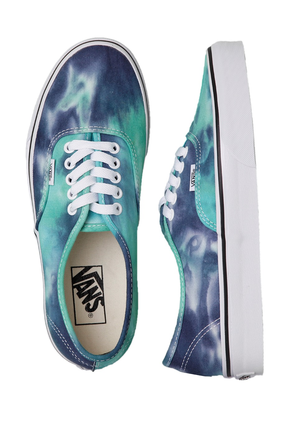8d76c147d714 Vans - Authentic Tie Dye Navy Turquoise - Girl Shoes - Impericon.com UK