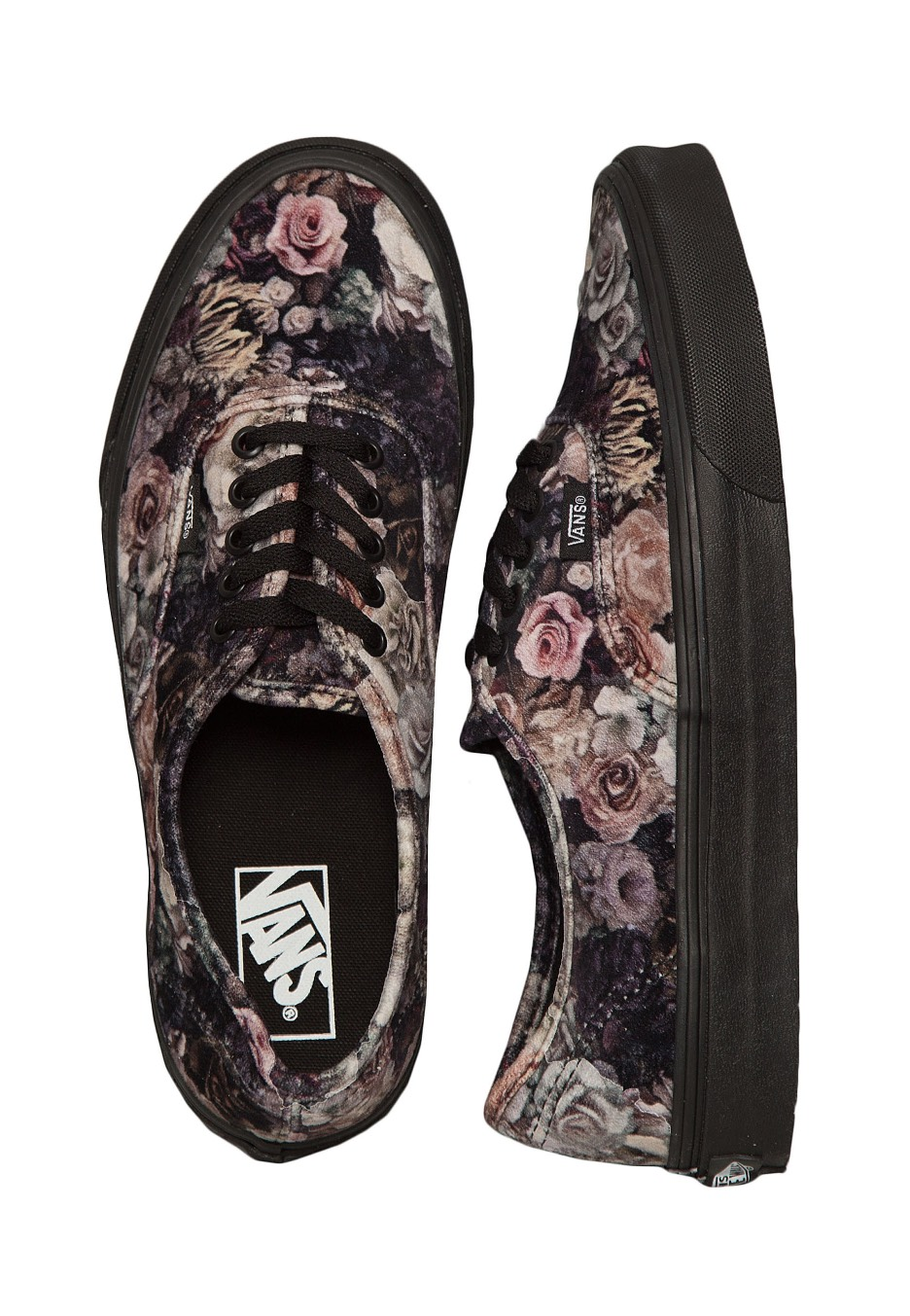 5cb86bebaf2 Vans - Authentic Velvet Floral Black - Girl Shoes - Impericon.com UK