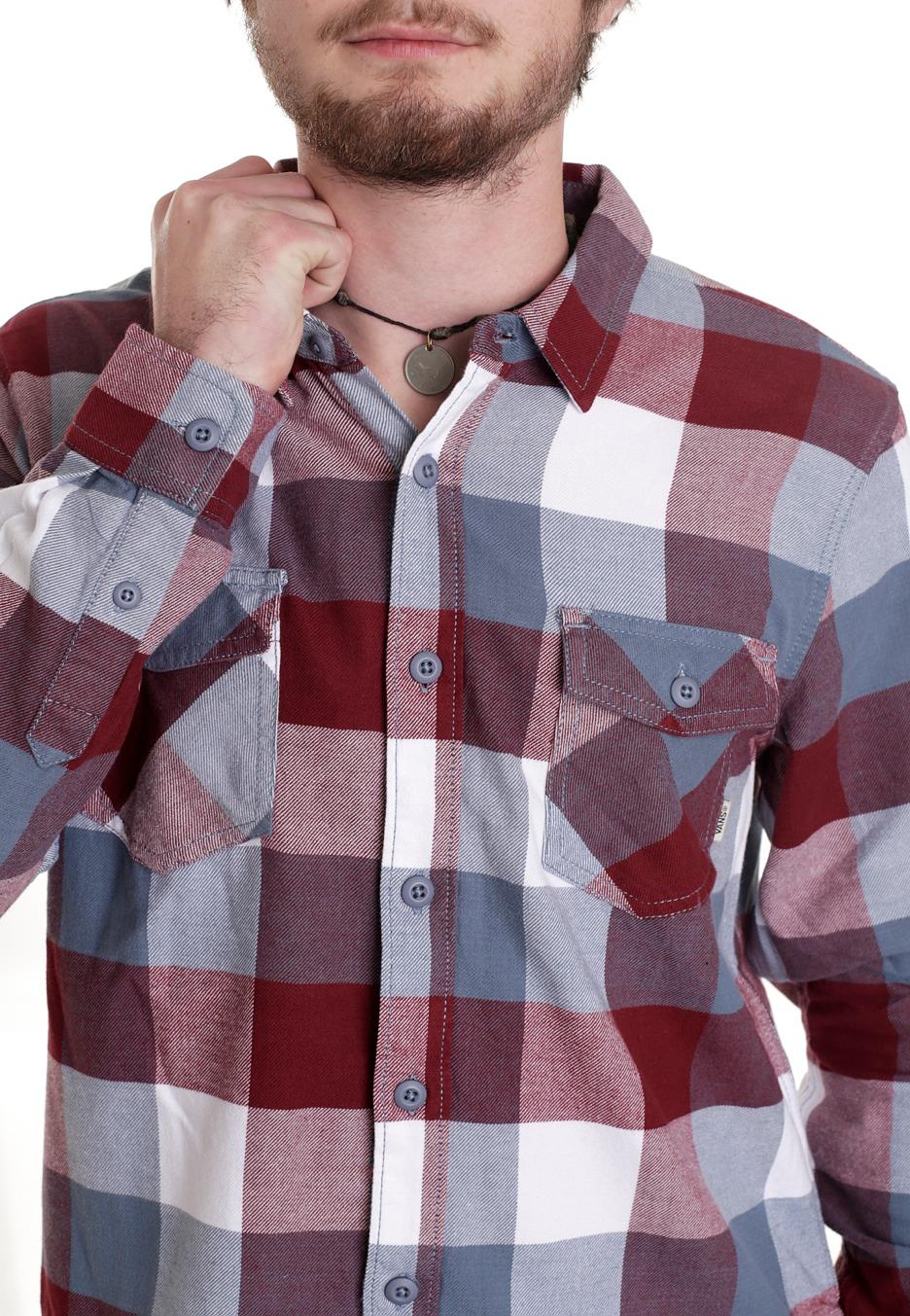 vans box flannel bordeaux blue mirage shirt uk. Black Bedroom Furniture Sets. Home Design Ideas