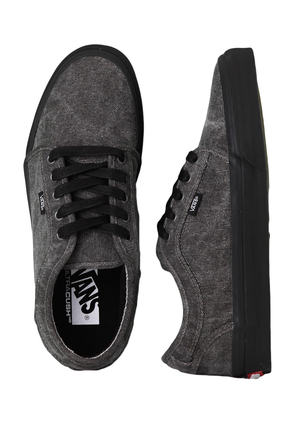 4609580ad5d2 Vans - Chukka Low Washed Canvas Black Black - Shoes - Impericon.com UK