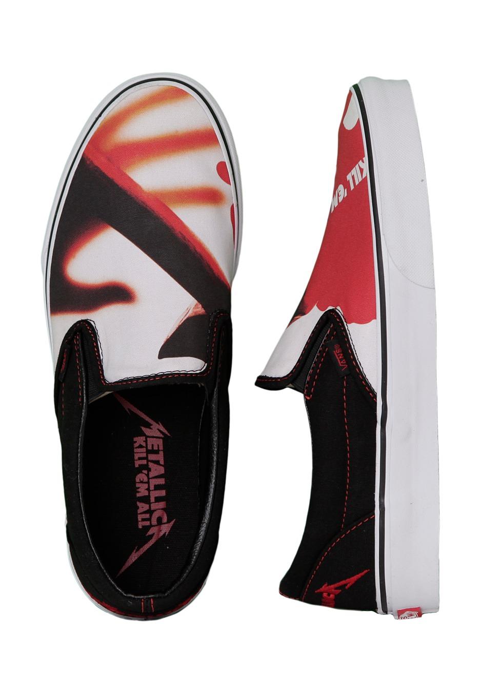 c89e8fec20 Vans - Classic Slip-On Metallica Kill ´Em All Black True White - Shoes -  Impericon.com UK