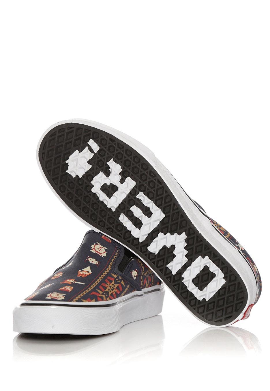 a87565c2b3 ... Vans X Nintendo - Classic Slip-On Nintendo Zelda Parisian Night - Girl  Shoes ...