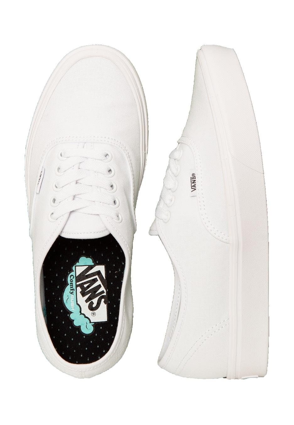 90a786d56cd84c Vans - ComfyCush Authentic Classic True White True White - Damesschoenen -  Impericon.com NL