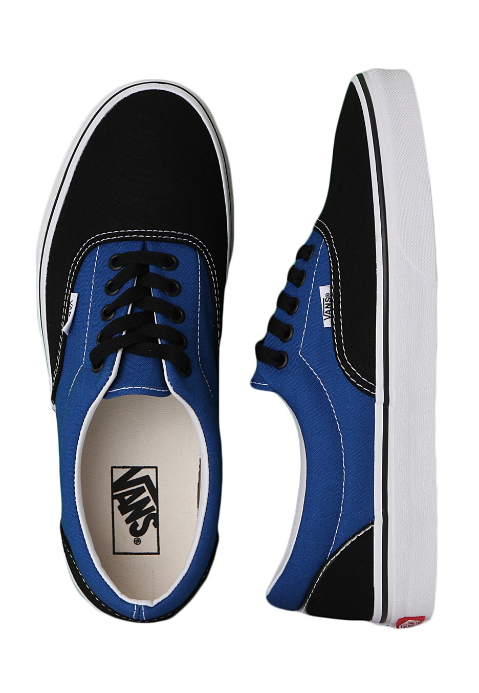 Vans - Era 2 Tone Black Snorkel Blue - Shoes - Impericon.com UK c09b582c38