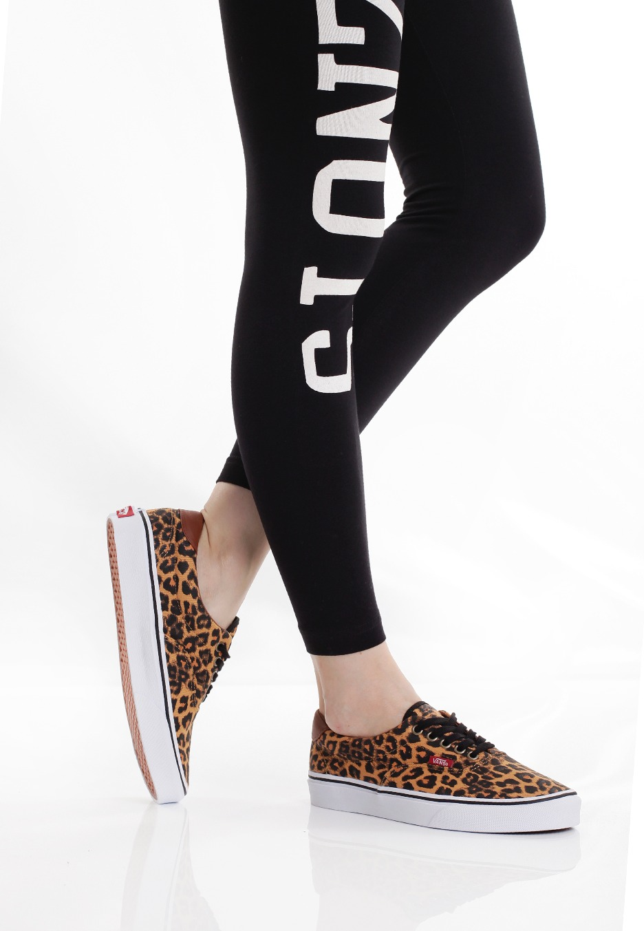 vans leopard donna