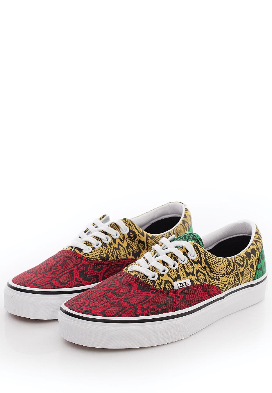 Vans - Era (Multi Python) Rasta/True White - Chaussures pour fille ...