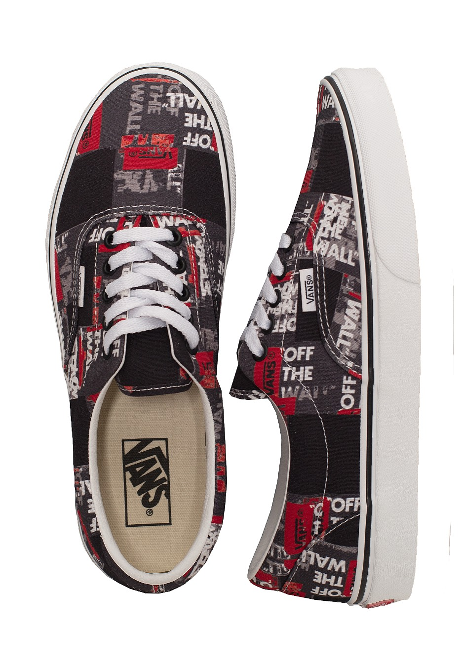 Vans Era (Packing Tape) BlackRedTrue White Schuhe