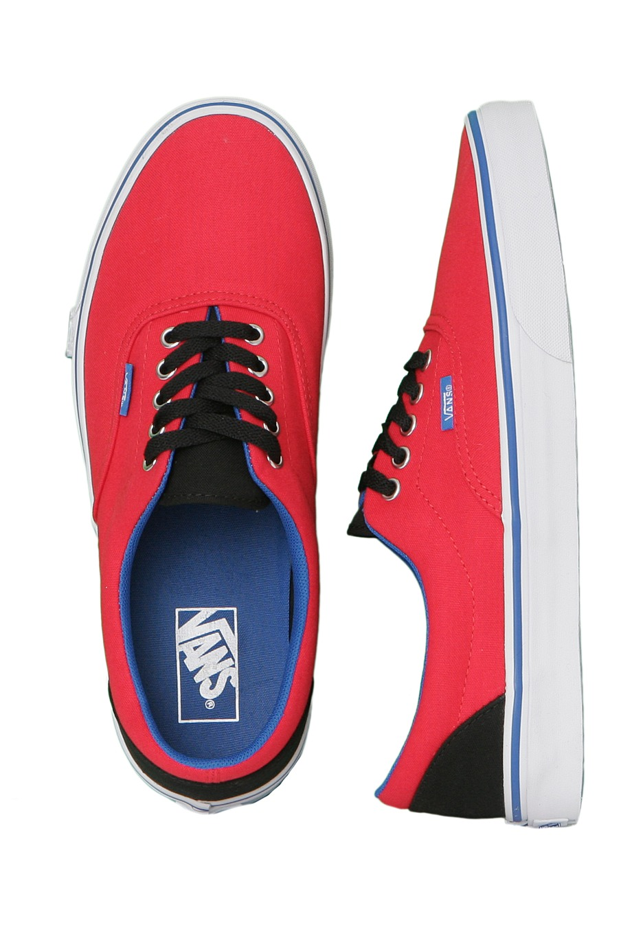 vans shoes blue and red