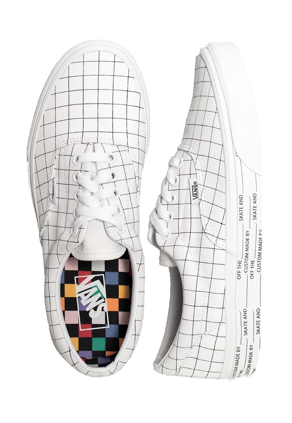 Vans - Era (U-Color) Chckrbrd/Tr Wht - Shoes - Impericon.com US