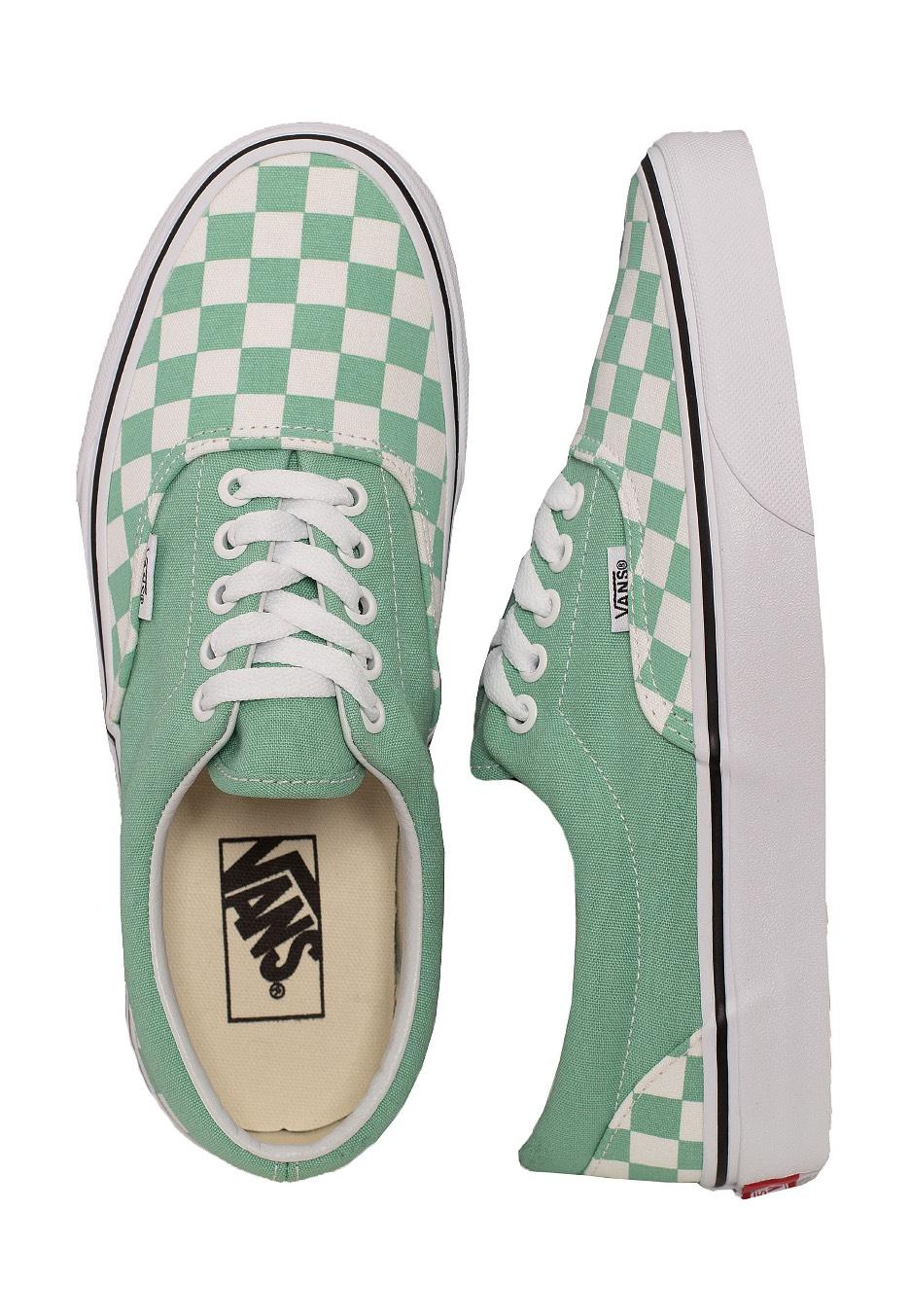 Vans - Era Checkerboard Neptune Green - Girl Shoes - Impericon.com US b47efe407