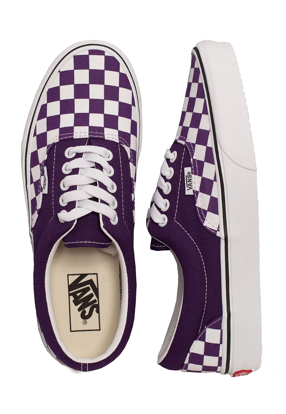 Vans Era Checkerboard Violet IndigoTrue White Schuhe