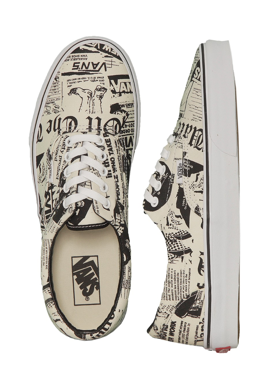 9ac693f93b Vans - Era Newsprint White - Shoes - Impericon.com UK