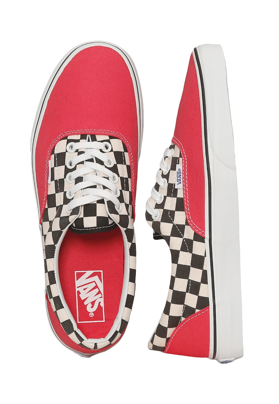 Vans - Era 2-Tone Check Rouge Red True White - Shoes - Impericon.com UK 057c5eac6