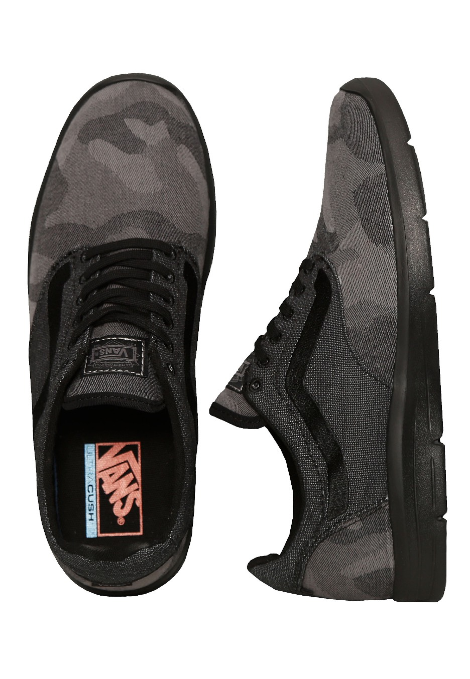 dfff630498da31 Vans - Iso 1.5 Camo Textile Black Black - Shoes - Impericon.com Worldwide