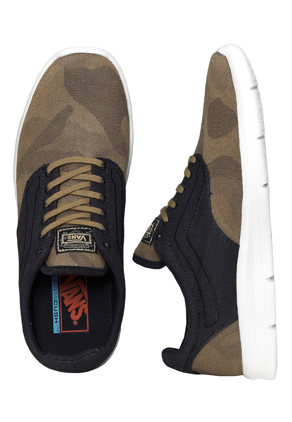 d0ef8077a694be Vans - Iso 1.5 Camo Textile Olive Night White - Shoes - Impericon.com UK