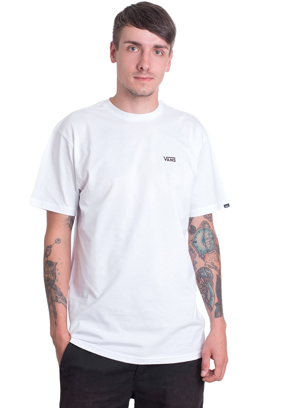 08335f860964db Vans - Left Chest Logo White - T-Shirt - Impericon.com UK