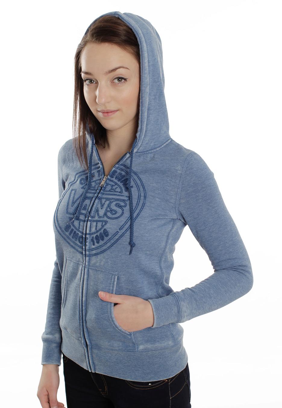 Vans - Neon Hoody Saphire - Girl Zipper - Impericon.com US db5fc0f34