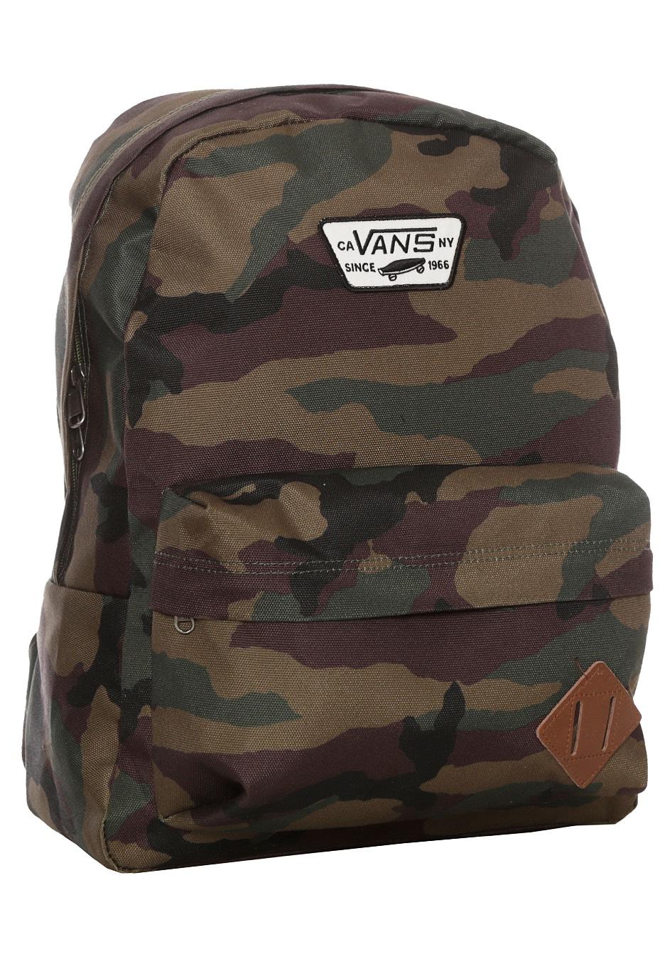 vans old skool backpack camo