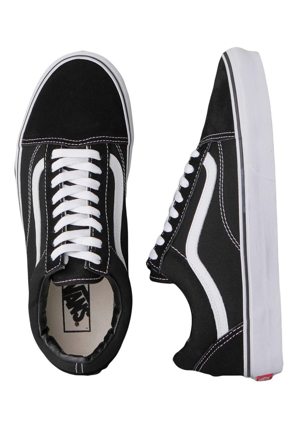 Chaussures Vans Old Skool Black White
