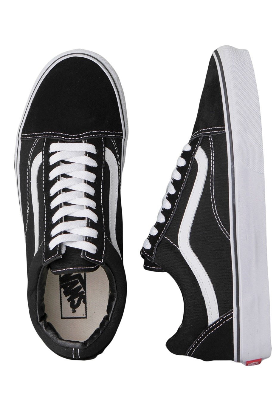 Vans - Old Skool Black White - Girl Shoes - Impericon.com US 8d1d36c04
