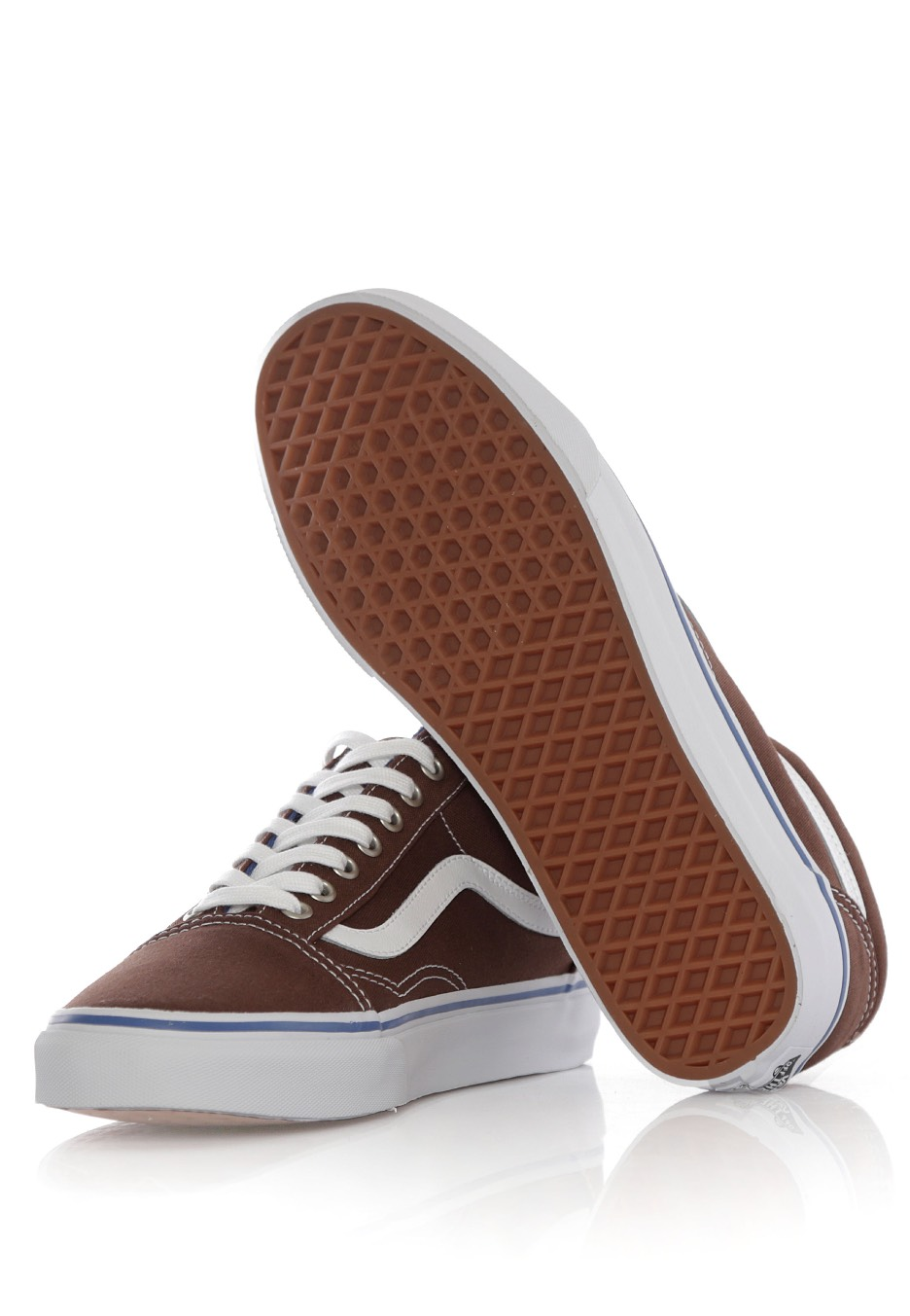 dc8e970fe680 Vans - Old Skool Chestnut True White - Chaussures pour fille ...