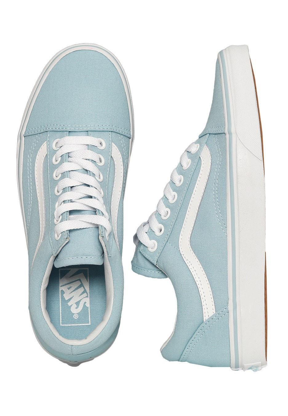 49deffa6134d Vans - Old Skool Crystal Blue True White - Girl Shoes - Impericon.com  Worldwide