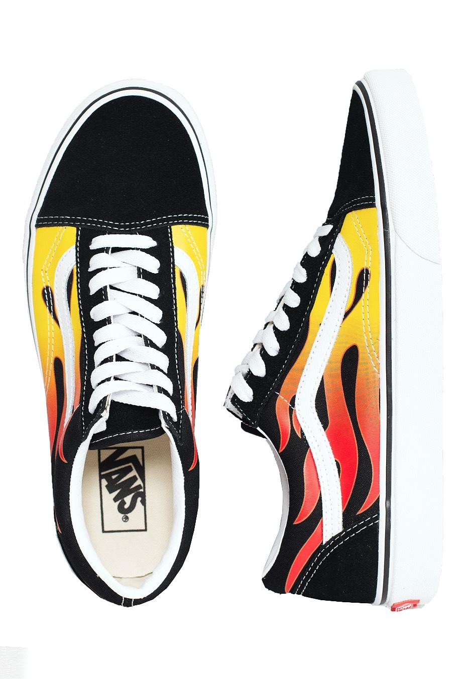 basket vans flame
