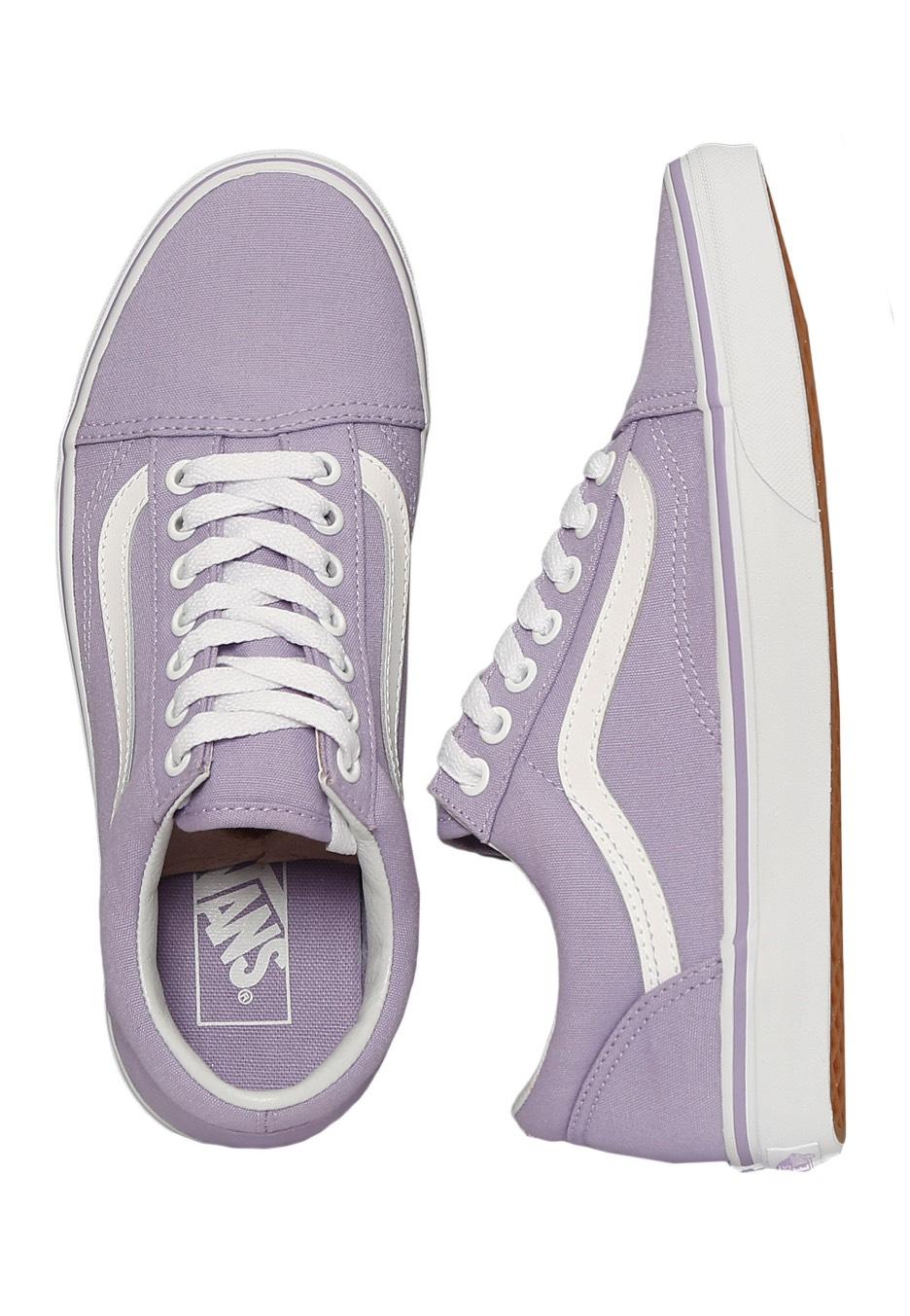 9684b36cb762 Vans - Old Skool Lavender True White - Girl Shoes