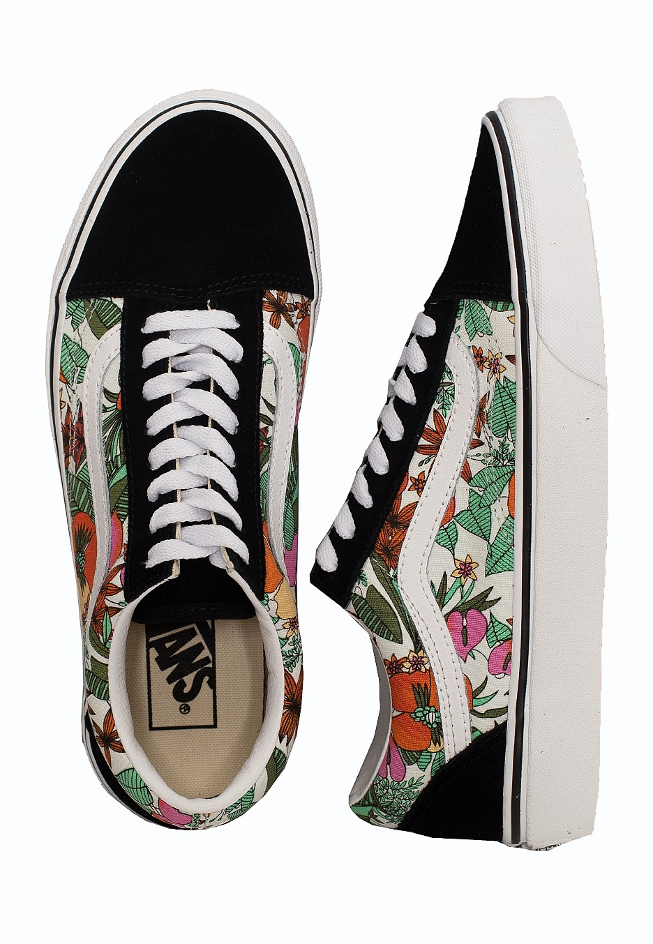 Vans Old Skool (Multi Tropic) BlackTrue White Buty