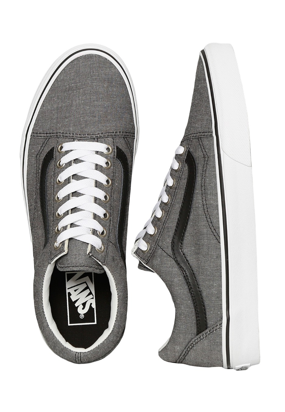 0fcdcd71f1 Vans - Old Skool C L Chambray Black - Shoes - Impericon.com UK